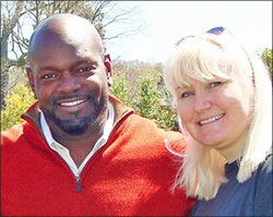 Emmitt Smith and Megan