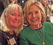 Hillary Clinton Megan Smolenyak Irish America Hall of Fame 2015 CU