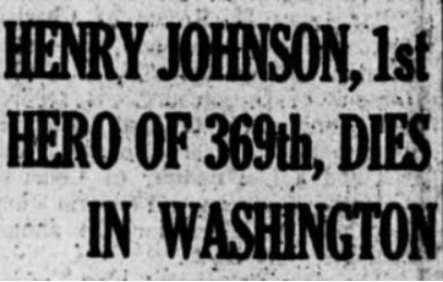 Sgt. William Henry Johnson headline re death