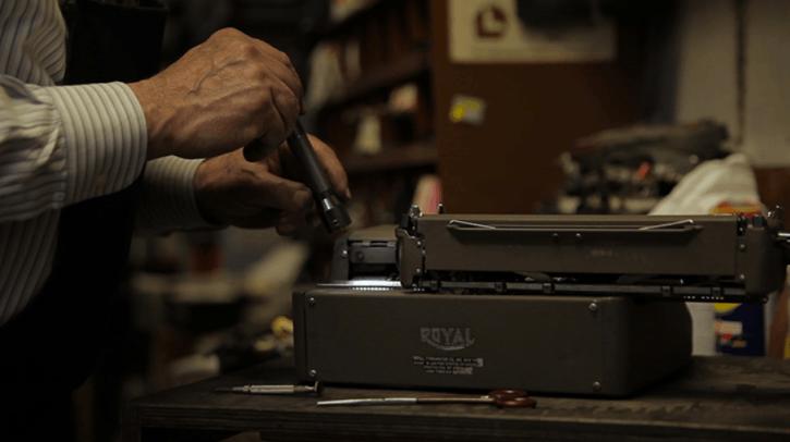 family run typewriter shop