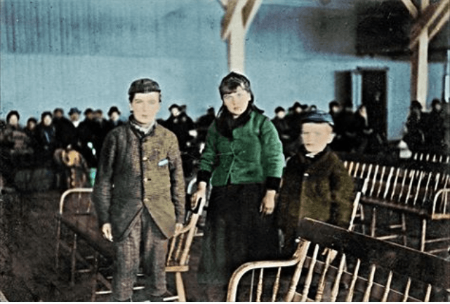 Annie Moore of Ellis Island colorized