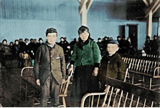 Annie Moore of Ellis Island colorized