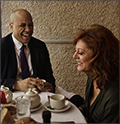 Senator Cory Booker and Susan Sarandon at Il Cantinori in Manhattan.