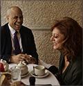 Senator Cory Booker and Susan Sarandon at Il Cantinori in Manhattan.