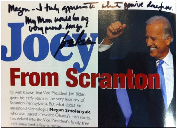 Irish America article signed by Joe Biden
