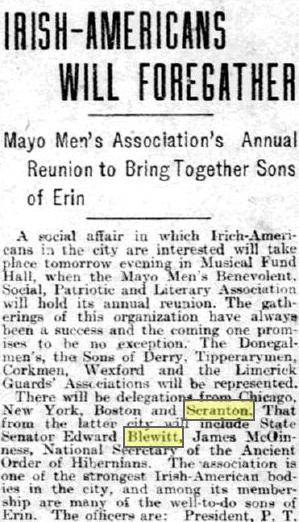 Mayo Men's Association Reunion 1908