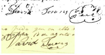 David Towns signatures