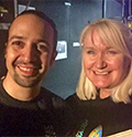 Lin-Manuel Miranda with Megan Smolenyak