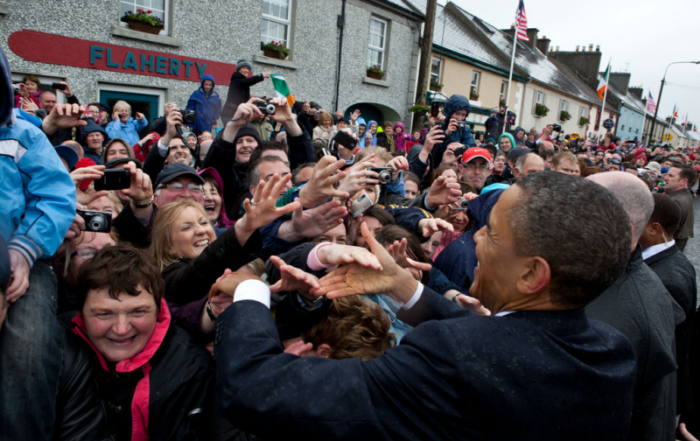 President Obama in Moneygall Ireland in 2011
