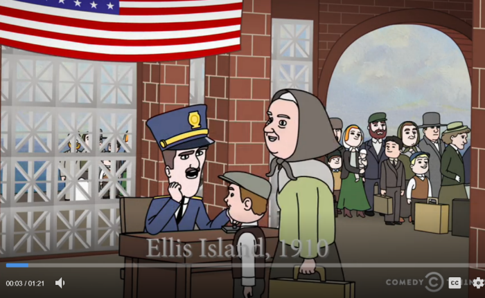 Ellis Island Cartoon
