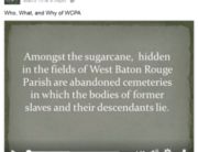Westside Cemetery Preservation Association video