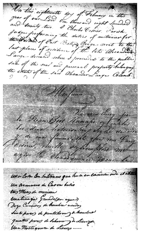 Estate records of Alexander Lange