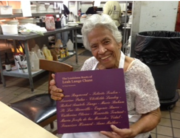 Leah Chase with Ancestry Book