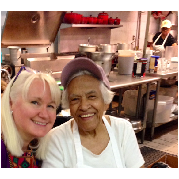 Megan with Leah Chase