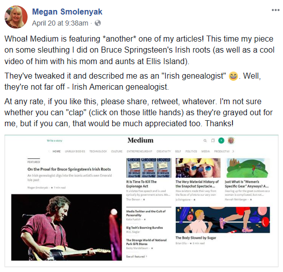 Bruce Springsteen Irish Roots