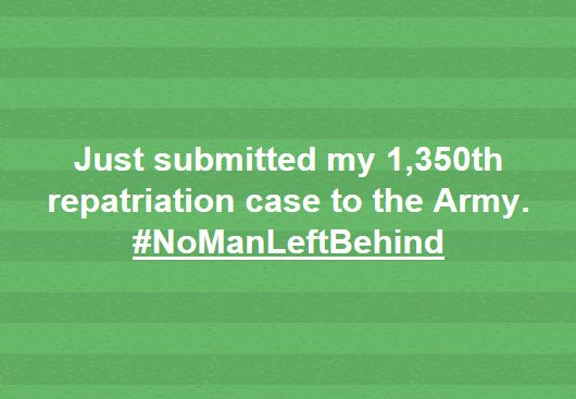 No Man Left Behind - 1350 cases