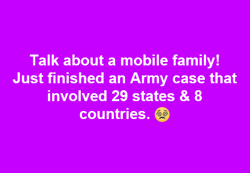 Mobile family Army case