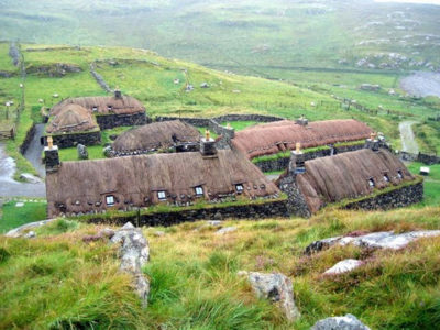 Scottish blackhouse Isle of Lewis