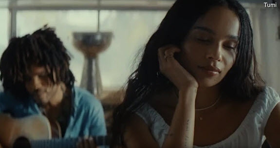 Lenny and Zoe Kravitz commercial